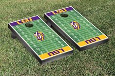 LSU Tigers Football Field Cornhole Board Set