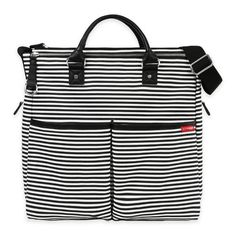 Product Image for SKIP*HOP® Duo Special Edition Diaper Bag in Black Stripes 1 out of 5