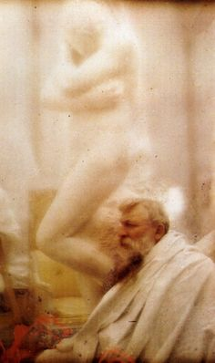 'Auguste Rodin et la sculpture d'Eve (autochrome), 1907 -by Edward Steichen