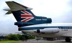 BEA British European Airlines Hawker Siddeley HS-121 Trident 3B G-AWZK Tail