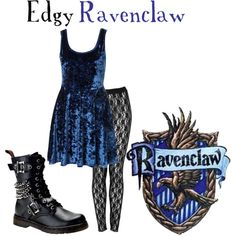 Edgy Ravenclaw, created by nearlysamantha on Polyvore