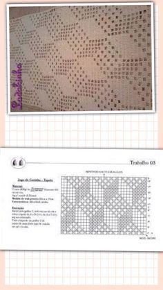 Häkelmuster Crochet Patterns Filet, Crochet Diagram, Doily Patterns, Crochet Table Runner, Crochet Tablecloth, Crochet Doilies, Thread Crochet, Knit Or Crochet, Crochet Baby