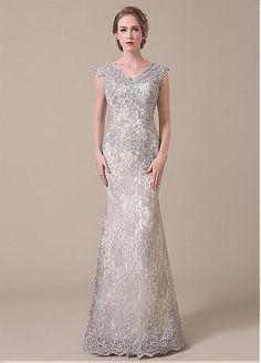 Buy discount Elegant Lace V-neck Neckline Mermaid Mother of The Bride Dresses at Dressilyme.com
