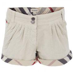 Burberry Beige Corduroy Shorts