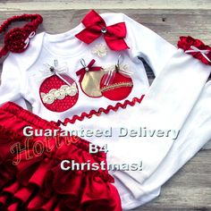 Holly Jolly Christmas Sweet N Sassy Ruffle Bloomer Skirt SET Visit us on FaceBook @  https://www.facebook.com/pages/Hottie-Tottie-Girl/386765638012760