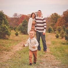 Running around the Christmas Tree Farm! Fun family photo ideas. Scherlife.com Photo Credit Hilary Ford Wildflower Photography