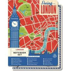 This set of 2 notebooks features classic London imagery from the vintage ephemera collection of the Cavallini archives. Each notebook has 96 pages, with one graph interior and one lined interior.<br><