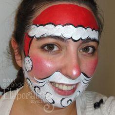 Santa face - face painting.
