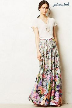love the colorfulness and flowy natrural feel to this skirt