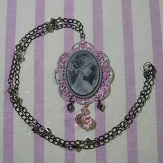 ♥ gothic lolita necklace, pastel goth necklace, steampunk necklace, victorian jewelry, goth necklace, gothic lolita jewelry, swarovski crystal necklace ♥  https://www.etsy.com/shop/StarlightSparkles