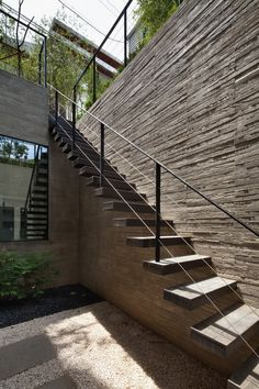 25 Best Outdoor Stairs Design Ideas Of 2020 - Modern Stairs - The Architecture Designs Outside Stairs, Outdoor Stairs, External Staircase, Design Exterior, Metal Stairs, Exterior Stairs, Floating Staircase, Staircase Design, Stair Design