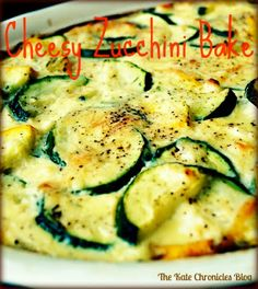 The Kate Chronicles: Cheesy Zucchini Bake I made this and it is good. John and kids did not like it