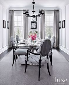 White Dining Room Glass Table