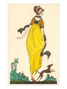 European Fashion, Whippet, 1800 Giclee Print