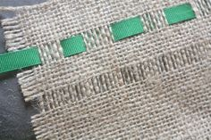 how to add ribbon to burlap