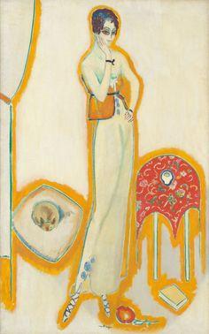 Kees van DONGEN (1877 - 1968) Femme au fond blanc (1910/14, huile sur toile, Chicago, Art Institute of Chicago)