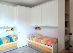 La cabina KUBO di Domio City Line è perfetta anche come testiera letto!