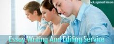 We have a professional team of http://abceditors.com  with more experiences in editing different types of essays regardless the topic.