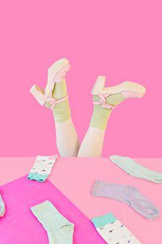 Pink Maguba sandals & lots of socks Pink Photography, Photography Projects, Lots Of Socks, Happy Pop, Funny Socks, World Of Color, Cool Socks, Pink Shoes, Color Blocking