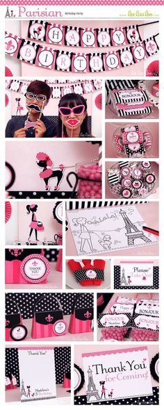 ♥ Parisian Birthday Party Theme ♥ Shop Here:  https://www.etsy.com/shop/LeeLaaLoo/search?search_query=b105&order=date_desc&view_type=gallery&ref=shop_search ✿  Party Styling: LeeLaaLoo - www.leelaaloo.com ✿ Party Print able Design & Decoration: LeeLaaLoo - www.etsy.com/shop/leelaaloo