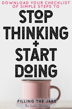 Are you so overwhelmed by thinking about all the little things that you can't even BEGIN working toward big goals? Check out this simple goal setting starter plan -- stop thinking and start DOING today! #motivation #productivity #takeaction #simplify #buildyourbestlife