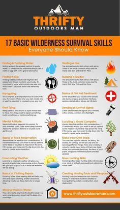 17 Basic Wilderness Survival Skills, Everyone should know #WildernessSurvival #wildernesssurvivalkit