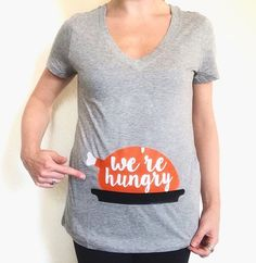 were hungry tee thanksgiving tee thanksgiving shirt holiday tee holiday shirt preggers tee preggers shirt pregnant tee preggers thanksgiving pregnant - Christmas Maternity Shirts
