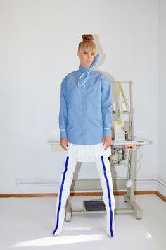 Framboise - Denim pattern cotton dress