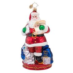 Christopher Radko Glass Mail Call Santa Claus Christmas Ornament 1016899 ** Want additional info? Click on the image.