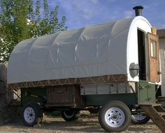Sheep wagon style camping trailer