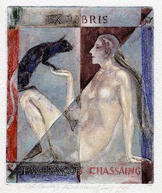 Ex Libris by A. Kmieliauskas for Jean-François Chassaing