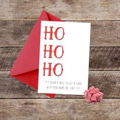 Merry Christmas You Ho Ho Ho Card  Funny / by DropSconeDesigns