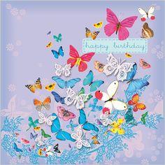 butterflies birthday- C Maddiccott Happy Birthday Verses, Happy Birthday Ecard, Happy Birthday Baby, Happy Birthday Pictures, Happy Birthday Greeting Card, Birthday Cards, Happy Brithday, Hippie Birthday, Birthday Background