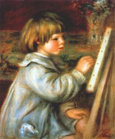 Portrait of Claude Renoir Painting - Pierre-Auguste Renoir - WikiArt. I replicated this painting in art class