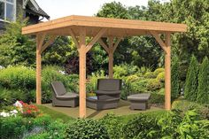 A large Pent style roof Gazebo, the Kreta modern Gazebo measures This freestanding structure with open sides is perfect as an outdoor seating area. Backyard Gazebo, Deck With Pergola, Pergola Patio, Pergola Plans, Pergola Ideas, Diy Gazebo, Backyard Seating, Garden Gazebo, Patio Roof