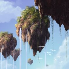 floating mountains - Google Search