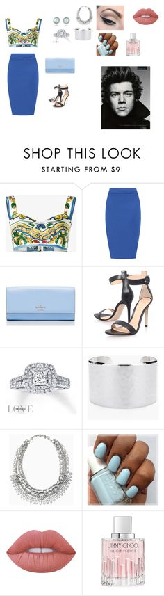 """Sem título #30"" by laurenmello-473 on Polyvore featuring moda, Dolce&Gabbana, WearAll, Kate Spade, Gianvito Rossi, Vera Wang, Chico's, Stella & Dot, Mehron e Lime Crime"