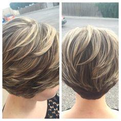 Be Inspired - Short Hair Asymmetrical Bob Haircuts, Stacked Bob Hairstyles, Short Layered Haircuts, Cute Hairstyles For Short Hair, Short Hair Cuts For Women, Short Hair Styles, Hair Highlights, Hair Dos, Hair Beauty