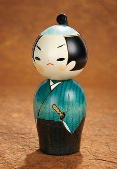 Samurai Wooden Kokeshi Doll - http://www.florenceandgeorge.com/samurai-wooden-kokeshi-doll.html