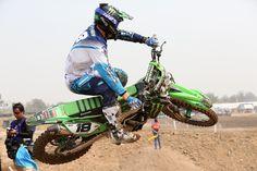 Dixon Racing Team's Vseva Brylyakov in action in Thailand for the MXGP