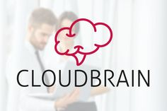 Cloud Brain Logo by Luis Quesada Design on @creativemarket