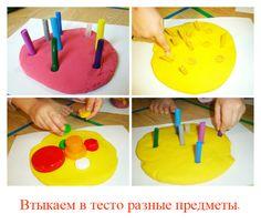 Лепка для малышей (от 1 до 1,5 лет) - простые игры с тестом.