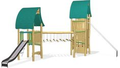 The Wizards Double Tower Fortress - NRO2005 - Play structures - Playground Equipment - KOMPAN