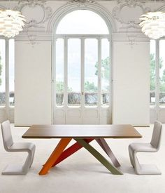 Rectangular #table BIG TABLE by @Bonaldo | #design Alain Gilles