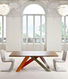 Rectangular #table BIG TABLE by @Bonaldo | #design Alain Gilles