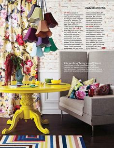 Design trends: From Australian Hose and Garden featuring bright and Whimsical decorative accessories.
