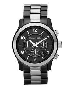 Michael Kors Watch, Men's Chronograph Runway Two Tone Stainless Steel Bracelet 45mm MK8182