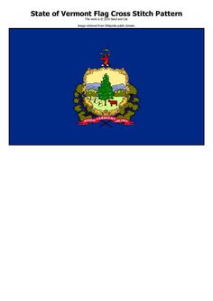 Instant Download State of Vermont Flag PDF by DarylandCatStitches