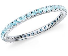 Aquamarine Eternity Band - Emma and Sadie's Birthstone...want this to wear along side my solitare that I got for my first mother's day
