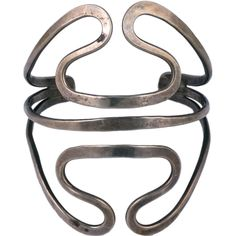 Ed Levin Modernist Sterling Cuff | From a unique collection of vintage cuff…